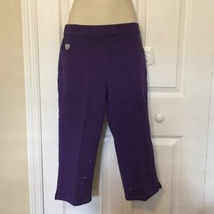 Quacker Factory Dream Jeannes Capri Pants XS NWT
